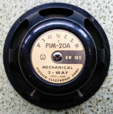 mockupパイオニアフルレンジPIM-20A