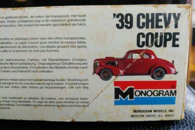 mockupモノグラム1/24`39シボレークーペ