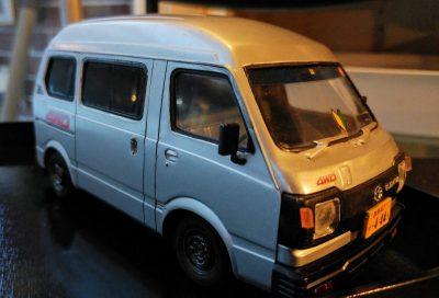 mockupアオシマ1/24スバルサンバー4WD