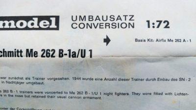 mockupフロッグ1/72Me.262A