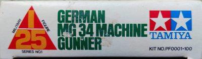 mockupタミヤ1/25ドイツ歩兵マシンガンナー