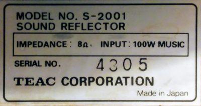 mockupティアックS-2001